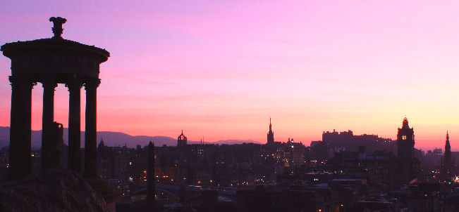 Scene from Calton Hill in Edinburgh's City Centre: sunset. Picture by Rob Wilkinson, Edinburgh