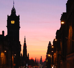 Edinburgh's Princes St at Dusk, picture by Rob Wilkinson, edinburgh
