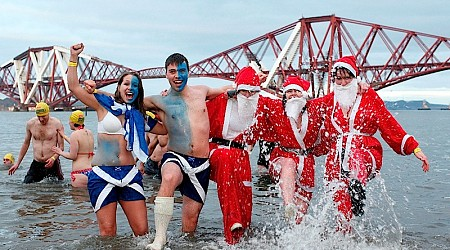 The Loony Dook Edinburgh January 1st.